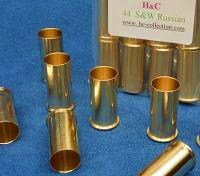 12 reloadable brass cases for 44 S&W Russian